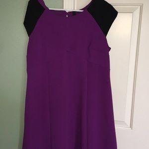 Dresses & Skirts - nice work purple and black dress